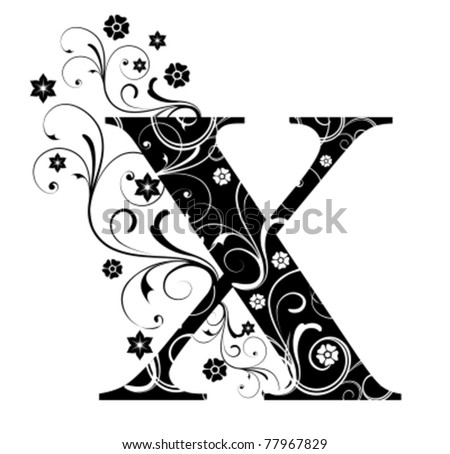 Letter Capital X - stock vector