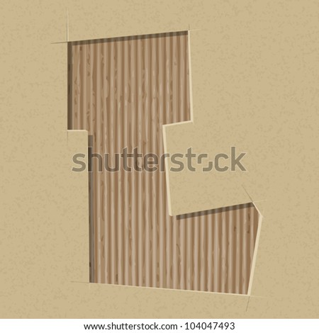 Cardboard letters stock photos cardboard letters stock for Alphabet letters cardboard