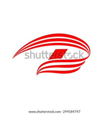 Letter D Logo - stock vector