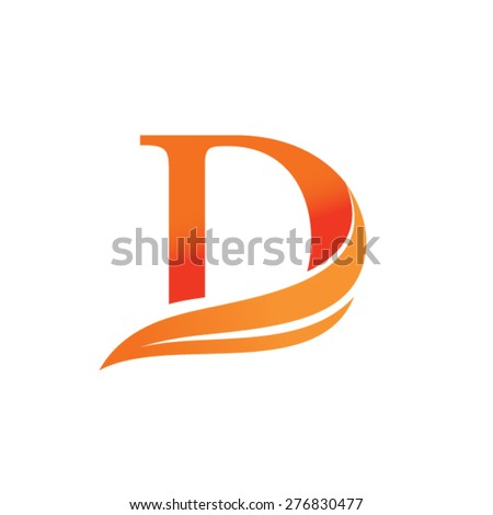 Letter D logo design - stock vector
