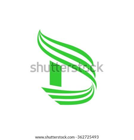Letter D logo design - stock vector