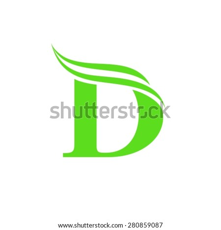 Letter D logo template  - stock vector