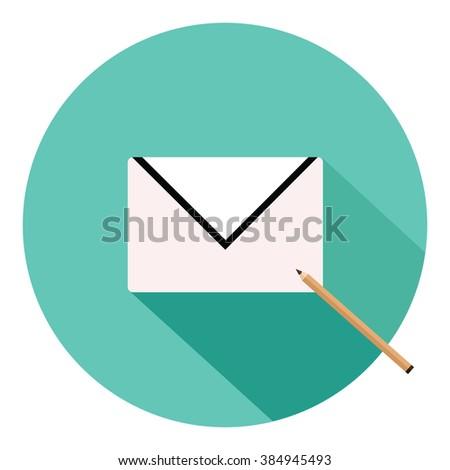 Letter envelope illustration.  - stock vector