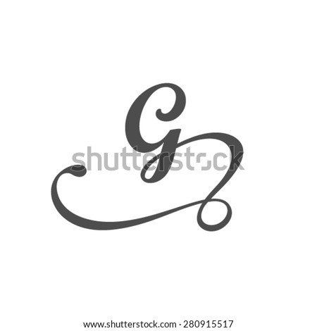 Letter G logo template  - stock vector