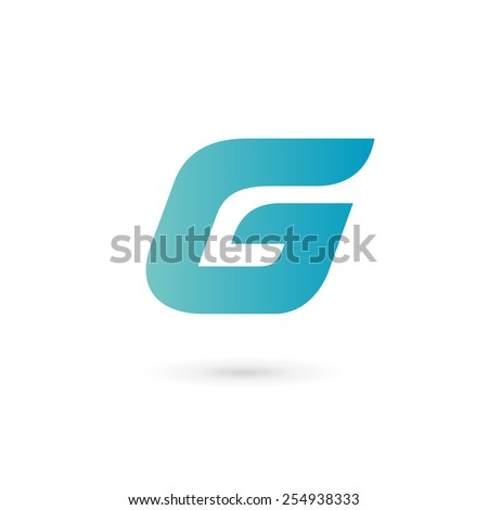 Letter G number 6 logo icon design template elements  - stock vector