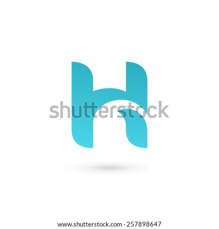 Letter H logo icon design template elements  - stock vector