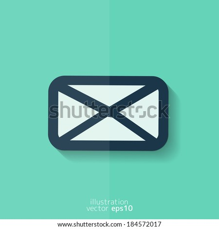 Letter icon. Email message. Sms. Flat design. - stock vector