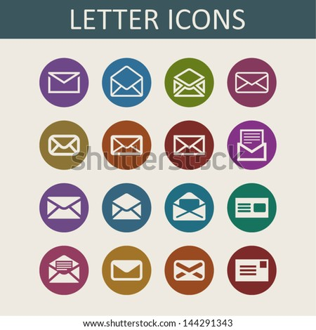Letter icons - stock vector