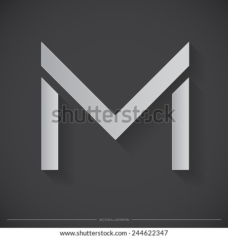 Letter M Logo, Icon, Design Template Elements for Your Company | EPS10 Vector - stock vector