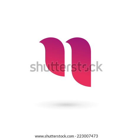 Letter N logo icon design template elements  - stock vector