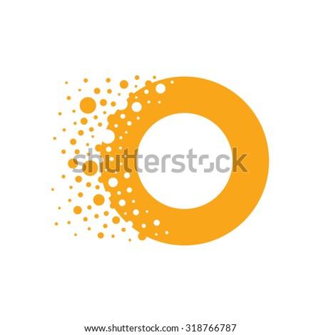 Letter O Bubbles Vector - stock vector