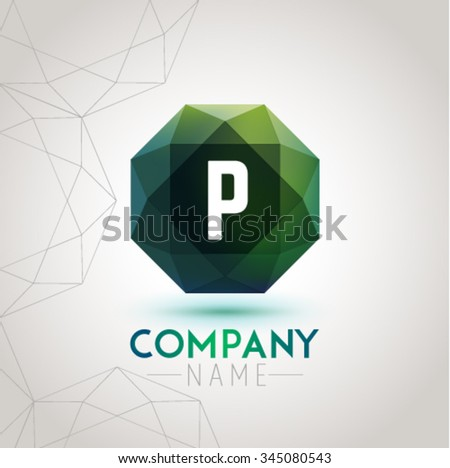 Letter P Alphabet Logo Icon Design Template Element. Vector Color Sign Easy Editable for Your Design. - stock vector