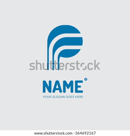 Letter P, logo design vector template. Symbol concept icon. - stock vector