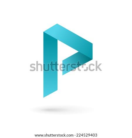 Letter P logo icon design template elements  - stock vector