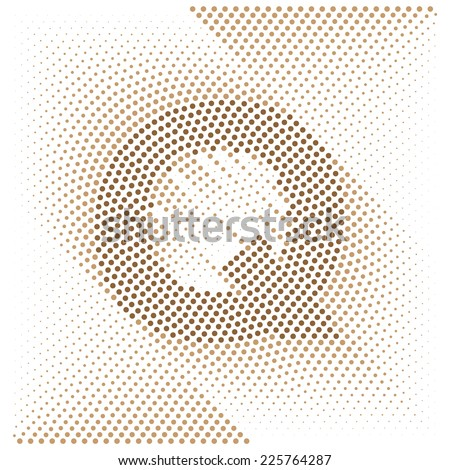 Letter Q - Abstract dotted optical illusion alphabet  - stock vector