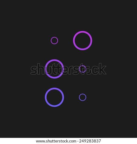 Letter S in Braille on black background - stock vector