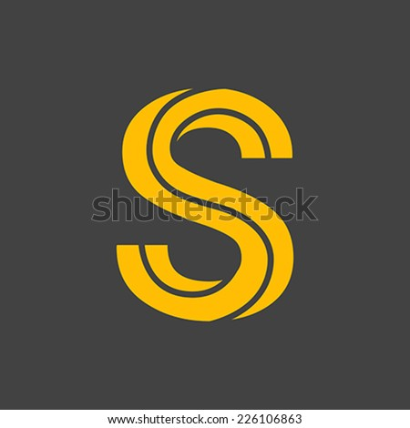 Letter S vector alphabet impossible shape.  ABC concept type as logo. Typography design - stock vector
