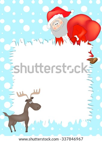 Letter to Santa Claus - stock vector