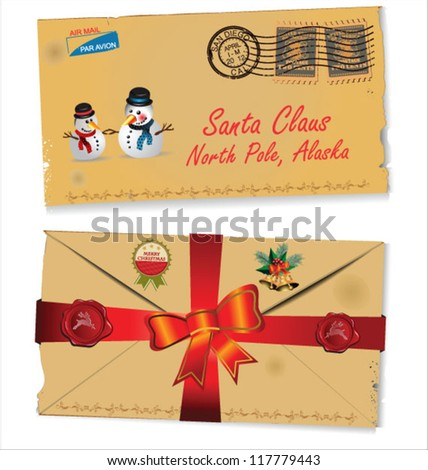 Letter to Santa Claus vector - stock vector