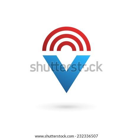 v and s logo design  Letter V wireless logo icon