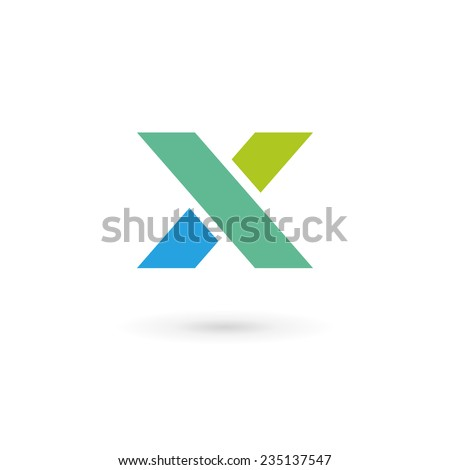 Letter X logo icon design template elements  - stock vector