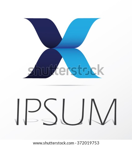 Letter X logo icon design template elements, abstract logo design. - stock vector