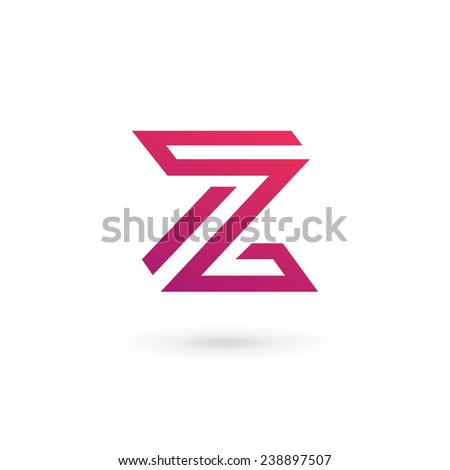 Z 3d Logo Design Letter Z logo icon design template elements - stock vector