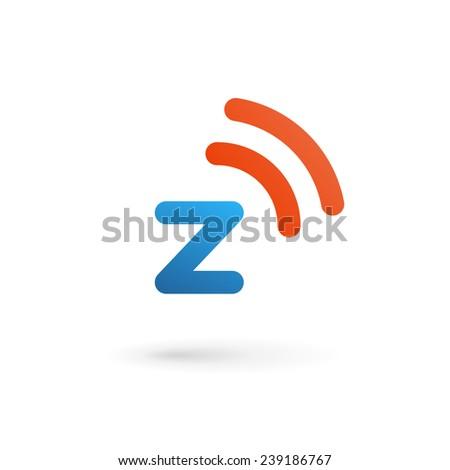 Letter Z wireless logo icon design template elements  - stock vector