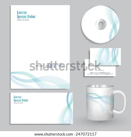 letterhead design - vector illustration - stock vector