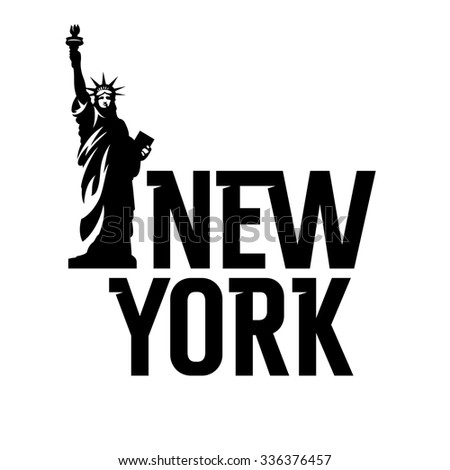 Lettering New York And Statue Of Liberty T Shirt