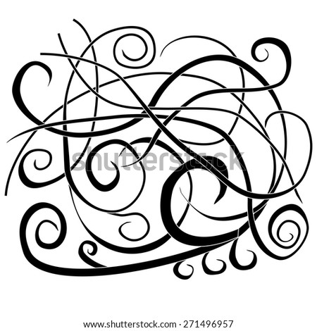 Letters abstract decorative doodles pattern Hand-Drawn Vector Illustration - stock vector