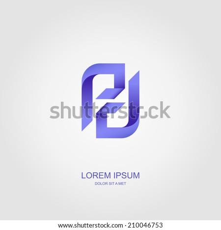 Letters stylized vector template design emblem logo, Business technology universal idea, Vector illustration Eps 10 - stock vector