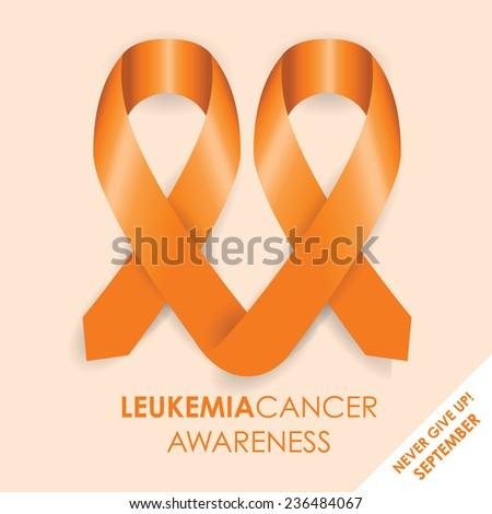 leukemia cancer awareness ribbon - stock vector