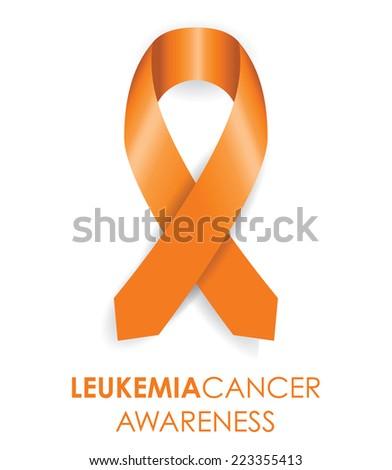 leukemia ribbon - stock vector