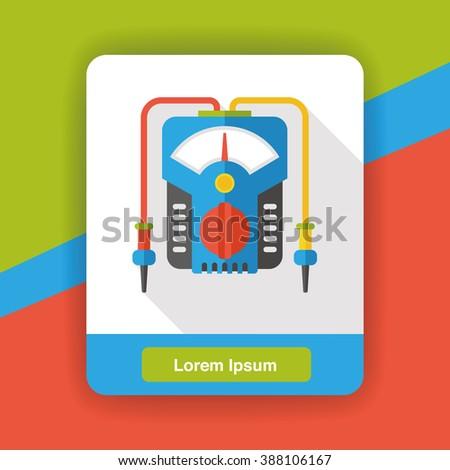 Level meter tool flat icon - stock vector