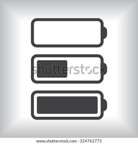li-ion battery. icon. vector design - stock vector