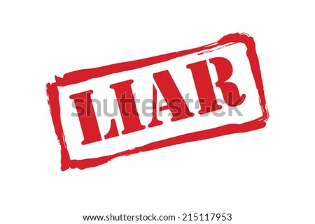 LIAR rubber stamp vector over a white background. - stock vector