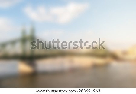 Liberty Bridge in Budapest, Hungary. Tourist destination photography with cityscape and river. - stock vector