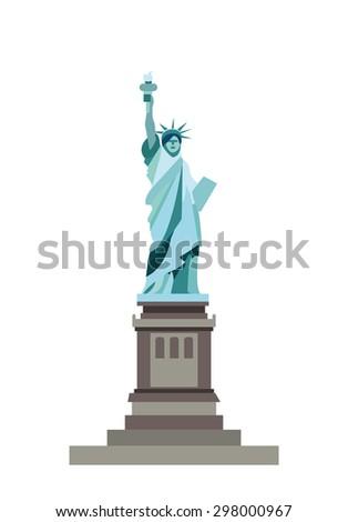 Liberty Statue (vector) - stock vector