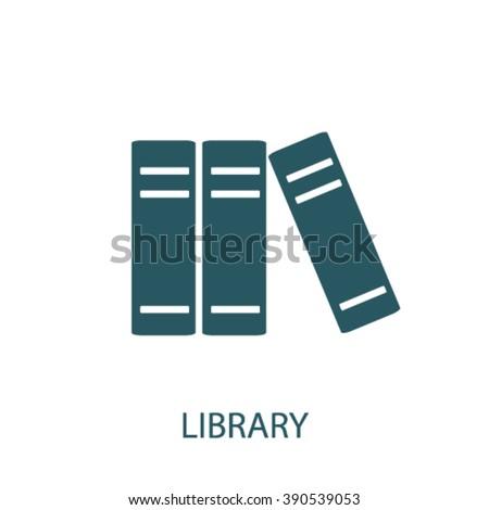 library icon  - stock vector