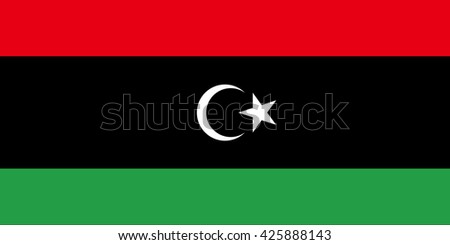 Libya flag, official colors and proportion correctly. National Libya flag. Libya flag vector. Libya flag correct. Libya flag drawing. Libya flag Image. Libya flag JPG. Libya flag JPEG. Libya flag EPS. - stock vector