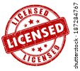 Licensed stamp - stock vector