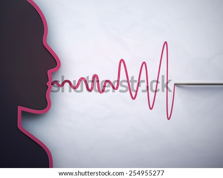 Lie detector test, eps 10 - stock vector