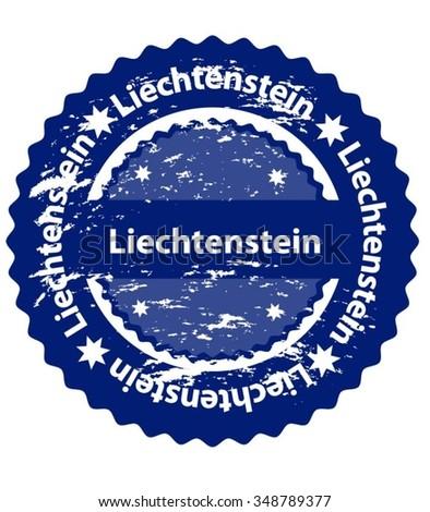 Liechtenstein Country Grunge Stamp - stock vector