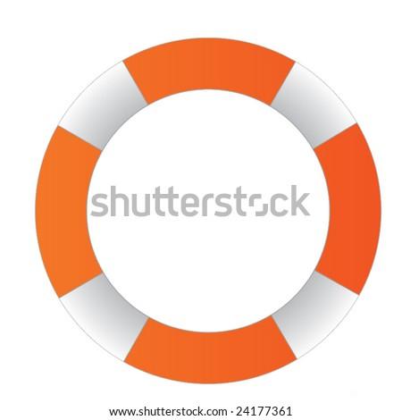 Life buoy - stock vector