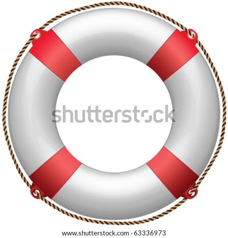 life buoy against white background, abstract vector art illustration - stock vector
