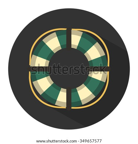 life buoy icon - stock vector