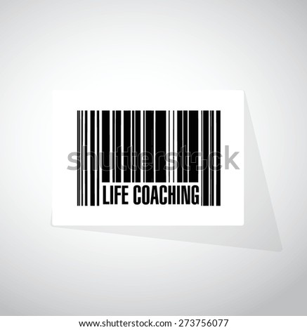life coaching barcode sign icon concept illustration design over white - stock vector