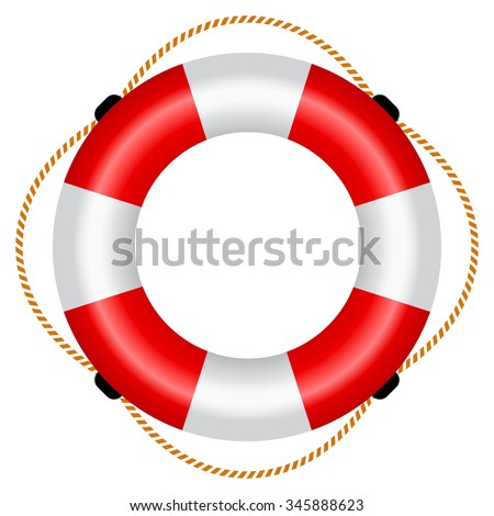 Life raft icon, vector illustration isolated on white background - stock vector