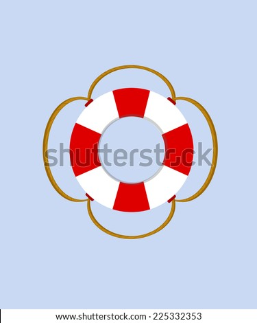 Life ring, life buoy, life preserver, life buoy vector - stock vector